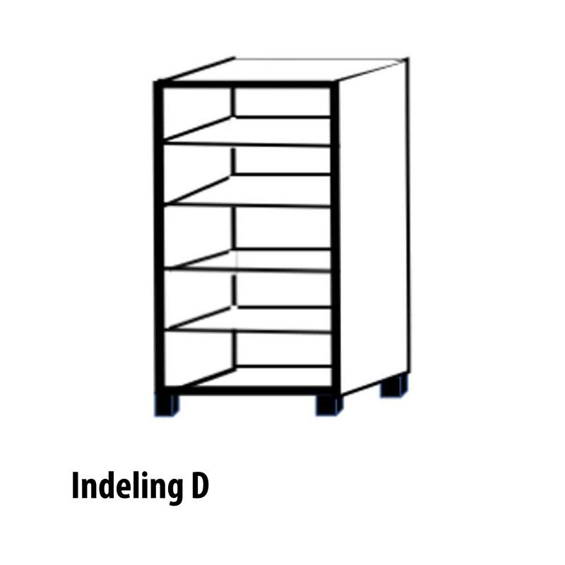 Variant D 2 deurs kast