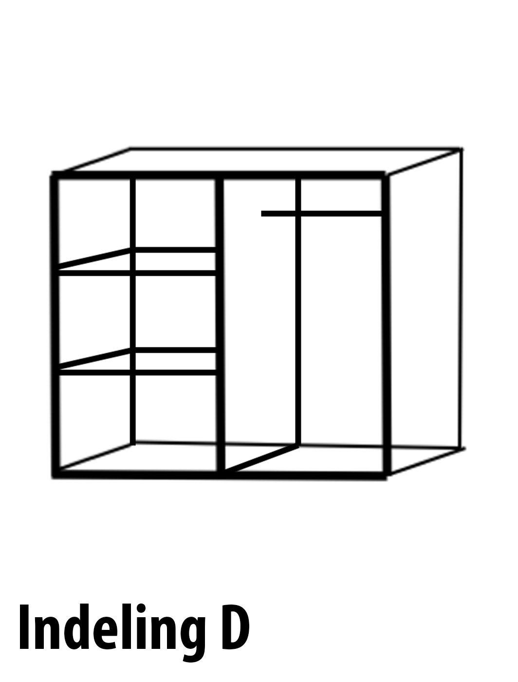D indeling meidenkast 4 deurs