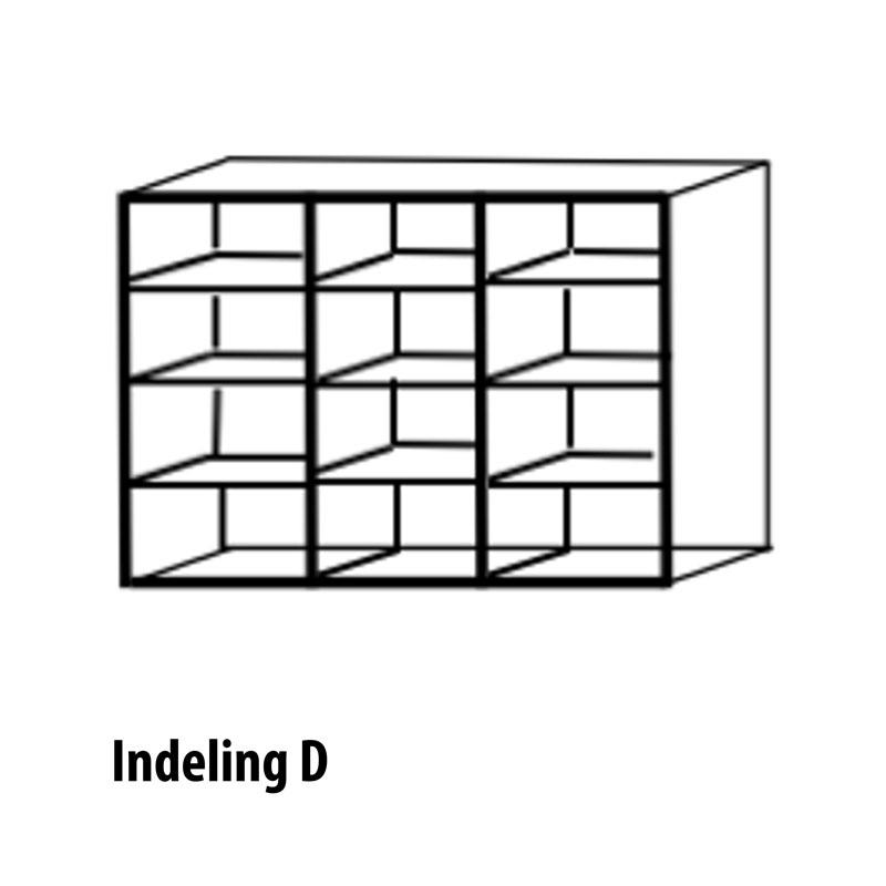 6 deurs indeling variant D