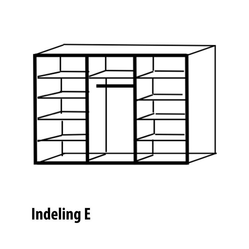 6 deurs indeling Variant E