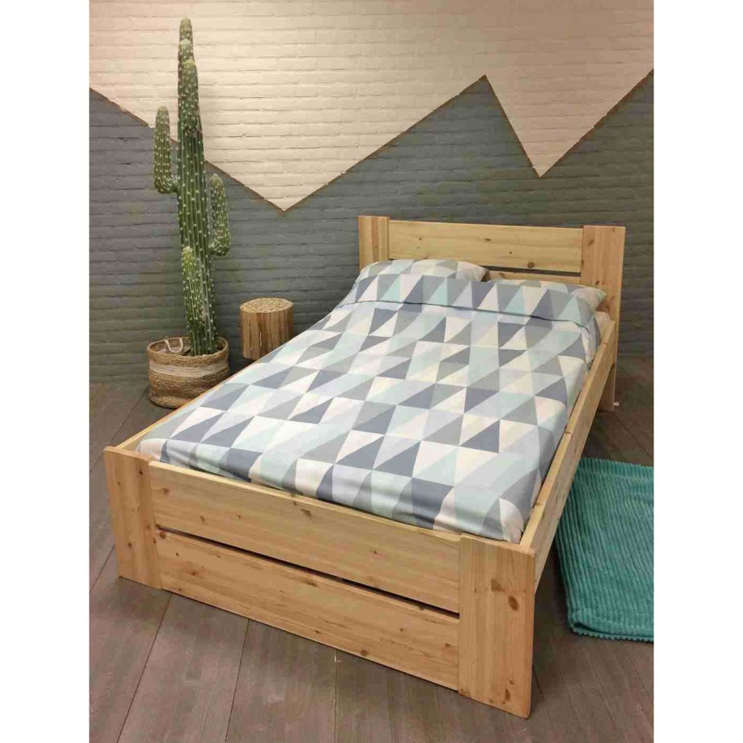 tweepersoonsbed Harm E+B blank hout